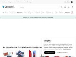 Vistaprint Homepage Screenshot