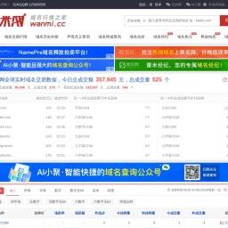 玩米网 - 域名行情走势,域名交易行情,域名行情查询 - wanmi.cc