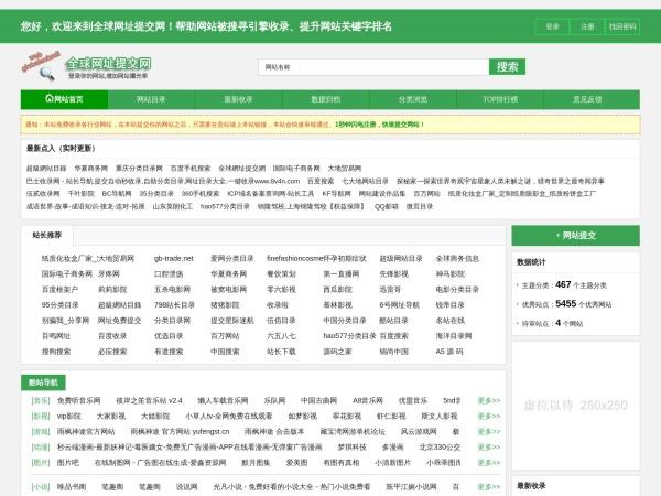 全球网址提交网