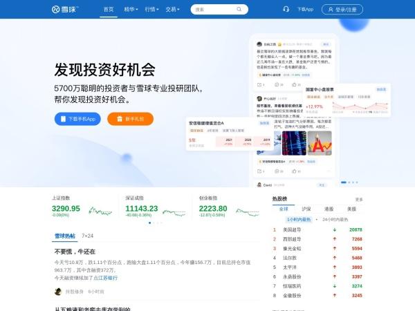 www.xueqiu.com的网站截图