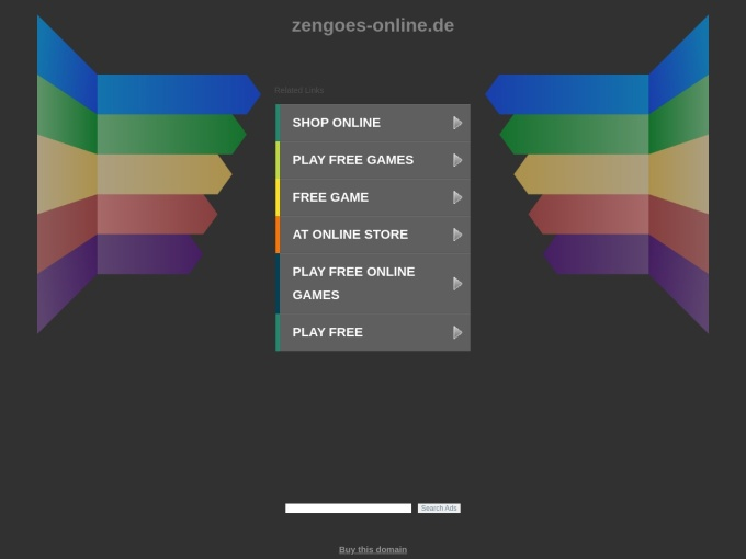Screenshot des Onlineshops von Zengoes