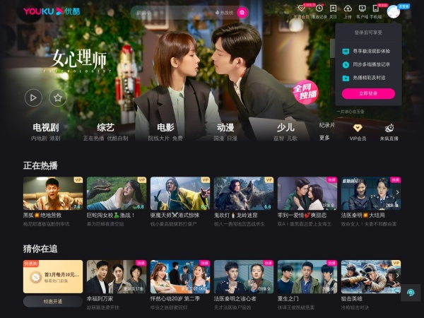 youku.com的网站截图