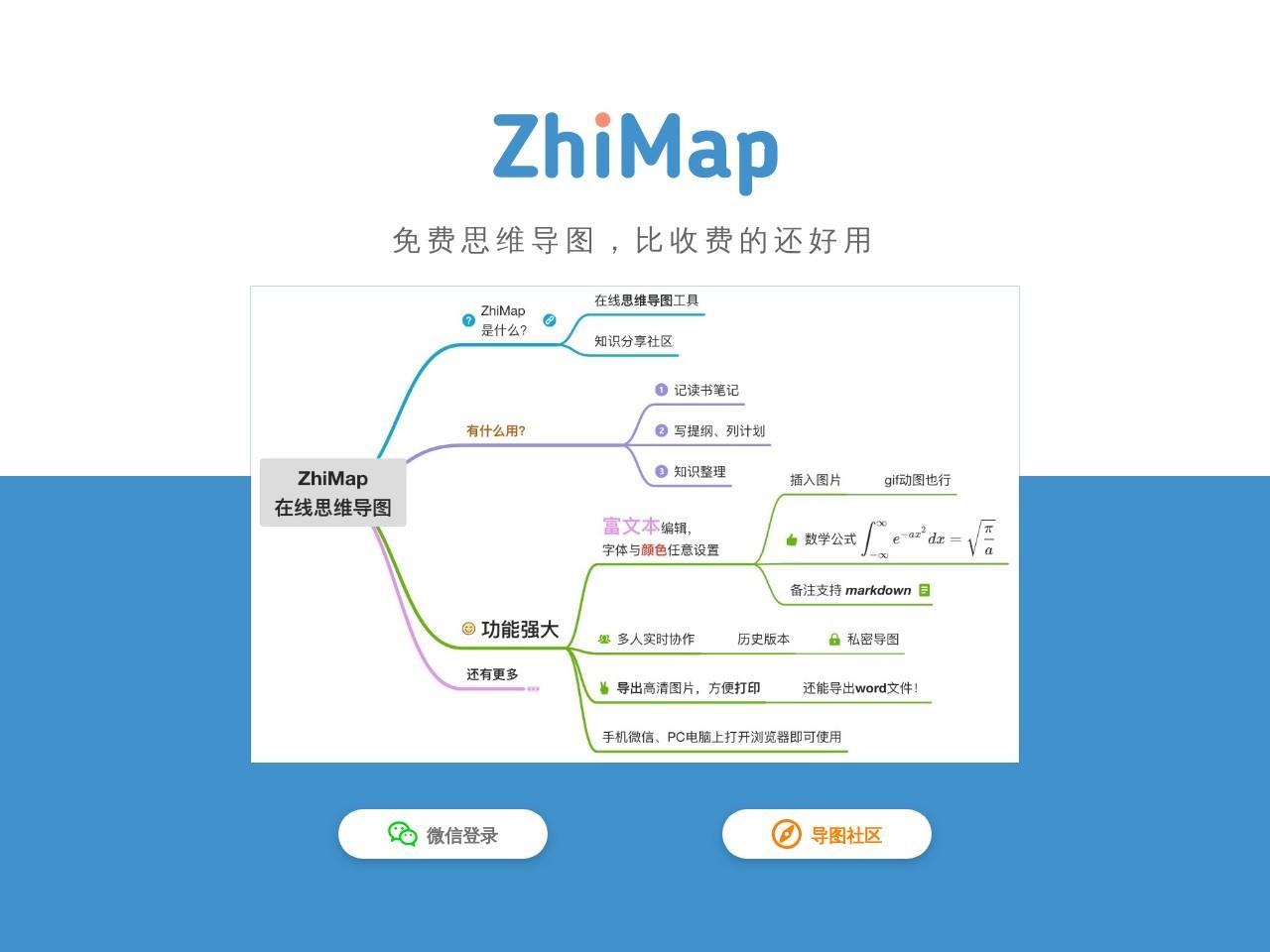 ZhiMap的网站截图