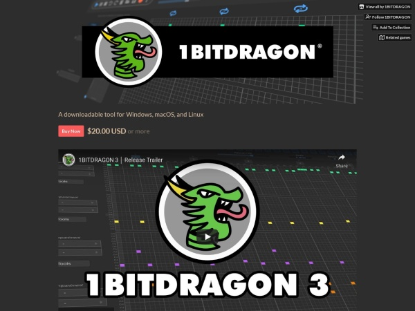 Screenshot of 1bitdragon.itch.io