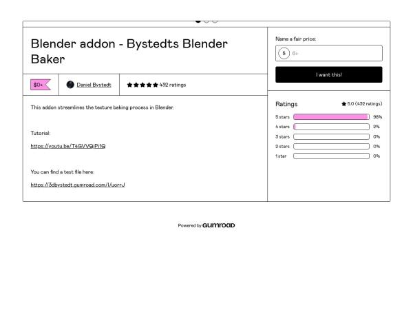 Screenshot of 3dbystedt.gumroad.com