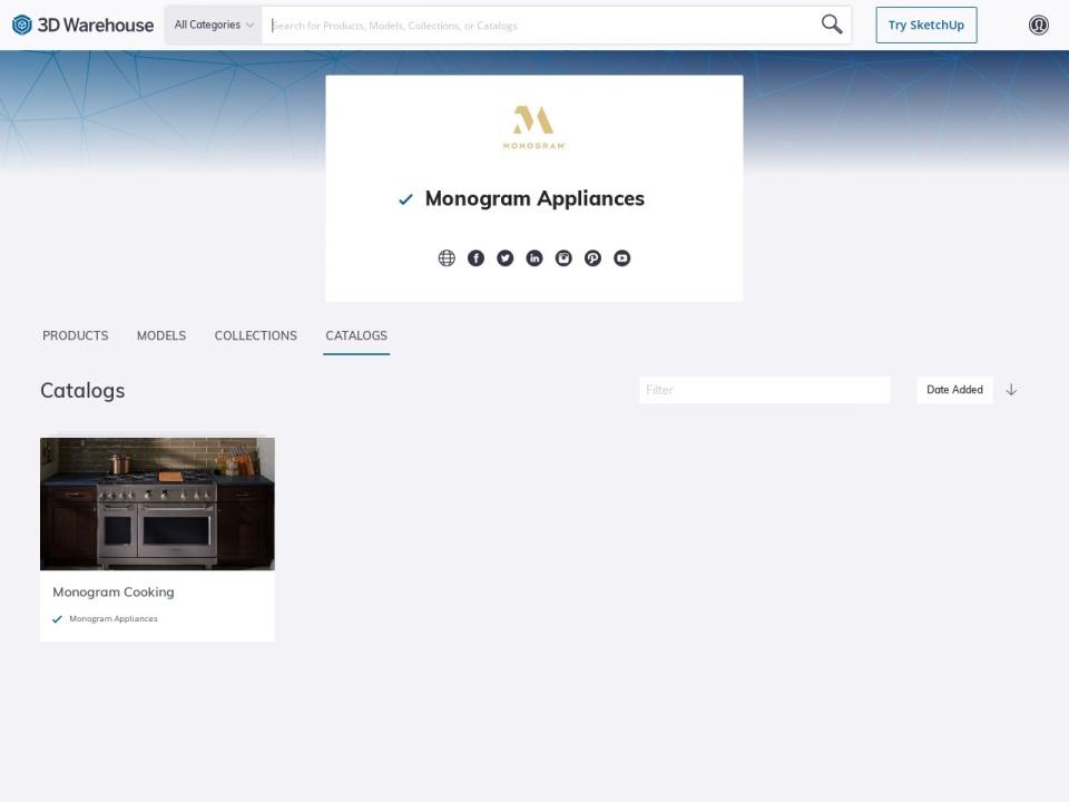Screenshot of 3dwarehouse.sketchup.com