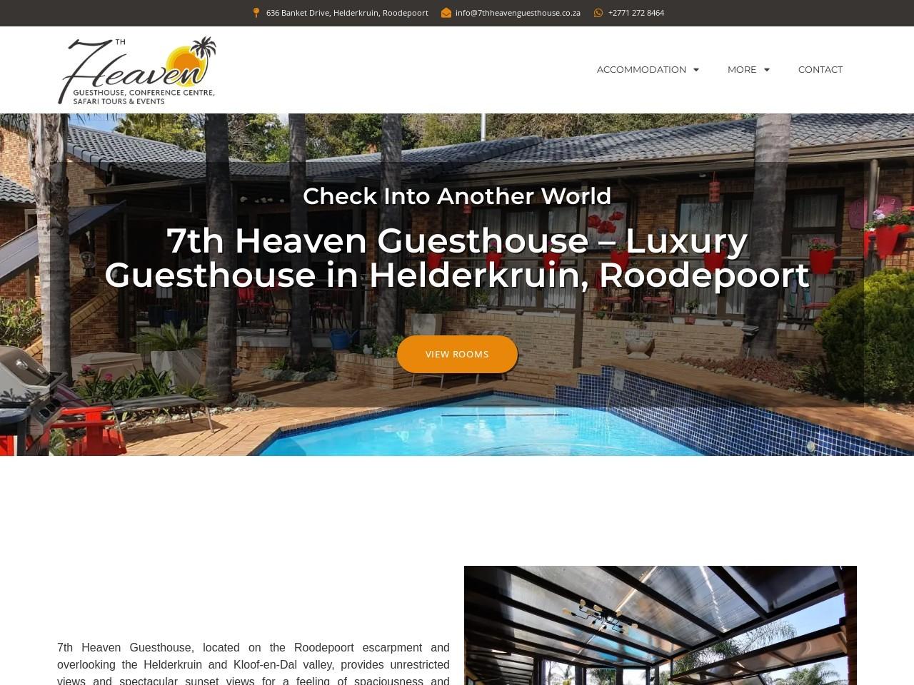 Screenshot of 7thheavenguesthouse.co.za