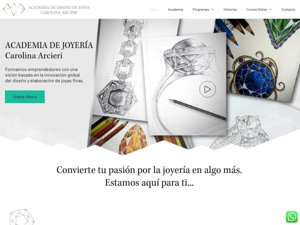 Captura de pantalla de academiacarolinaarcieri.com