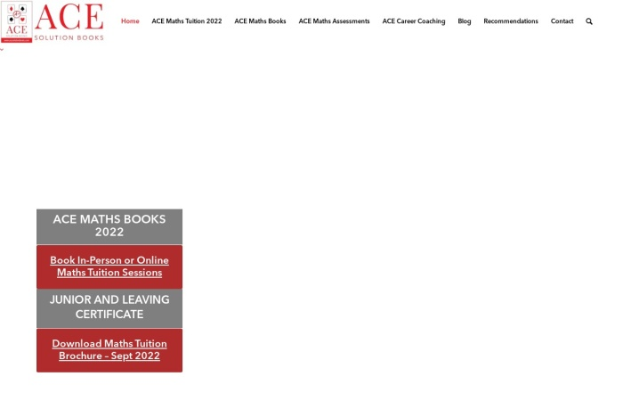 Screenshot of acesolutionbooks.com