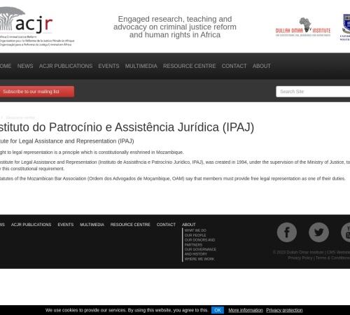 Screenshot of acjr.org.za