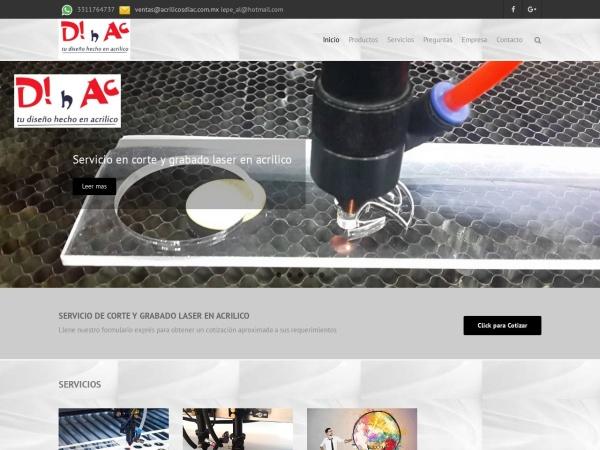 Captura de pantalla de acrilicosdiac.com.mx