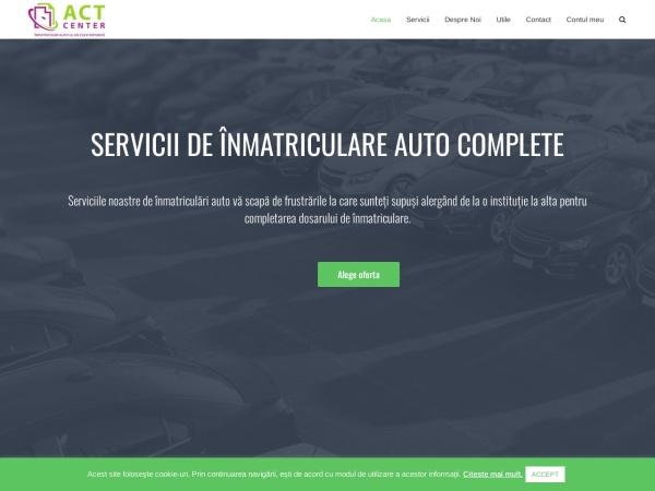 Screenshot of actcenter.ro