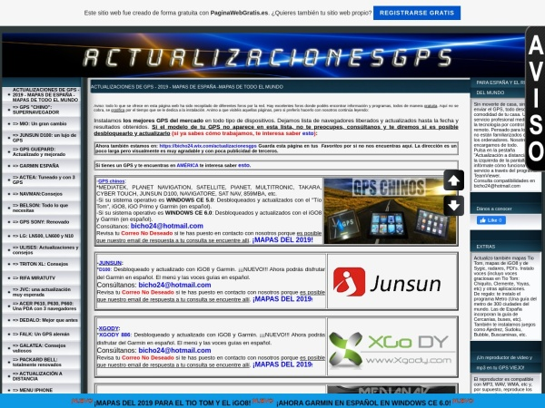 Captura de pantalla de actualizacionesgps.es.tl