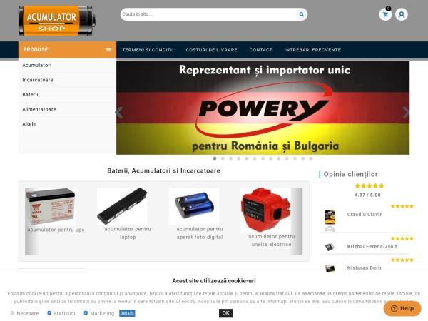 Screenshot of acumulator-shop.ro