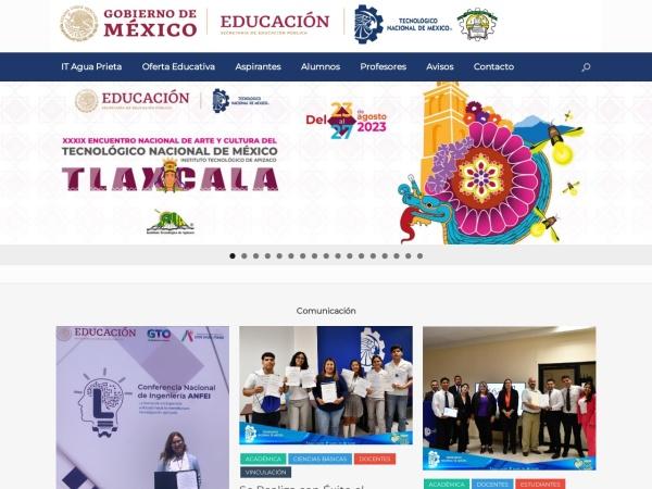 Screenshot of aguaprieta.tecnm.mx