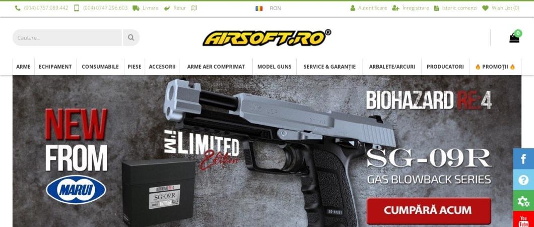Screenshot of airsoft.ro