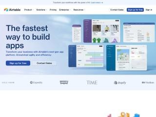 Screenshot of airtable.com