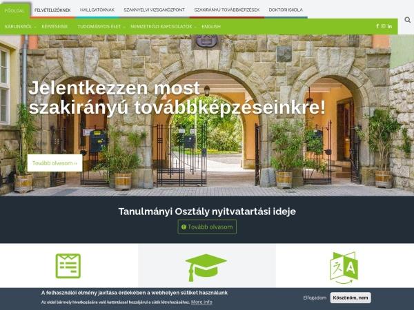 Screenshot of ajk.pte.hu