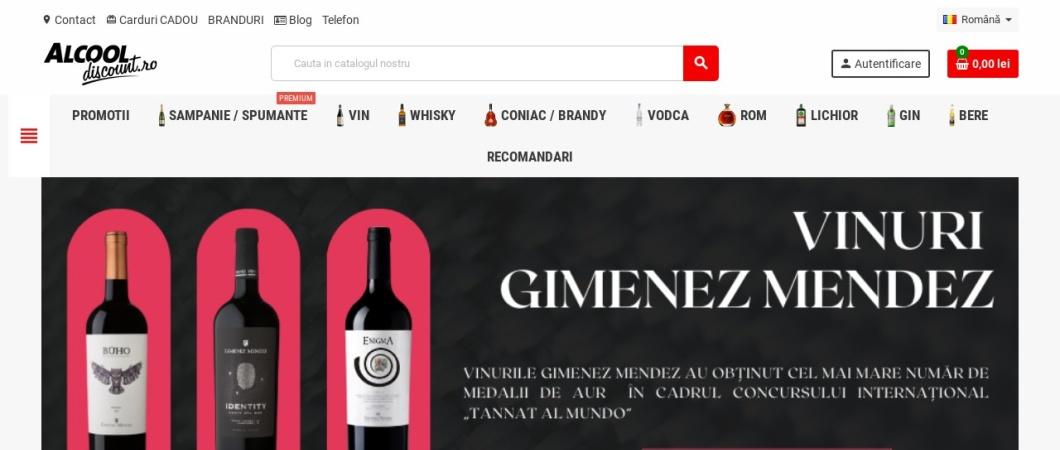 Screenshot of alcooldiscount.ro