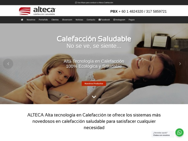 Captura de pantalla de altecacalefaccion.com