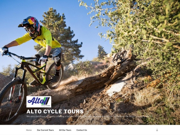 Screenshot of altocycletours.co.nz