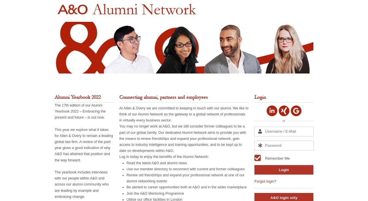 Screenshot of alumni.allenovery.com