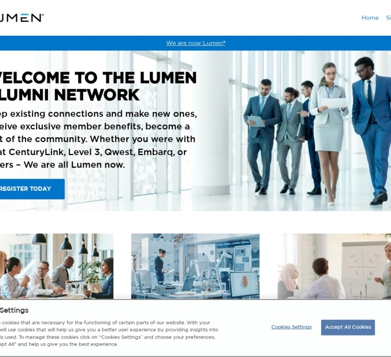 Screenshot of alumni.centurylink.com