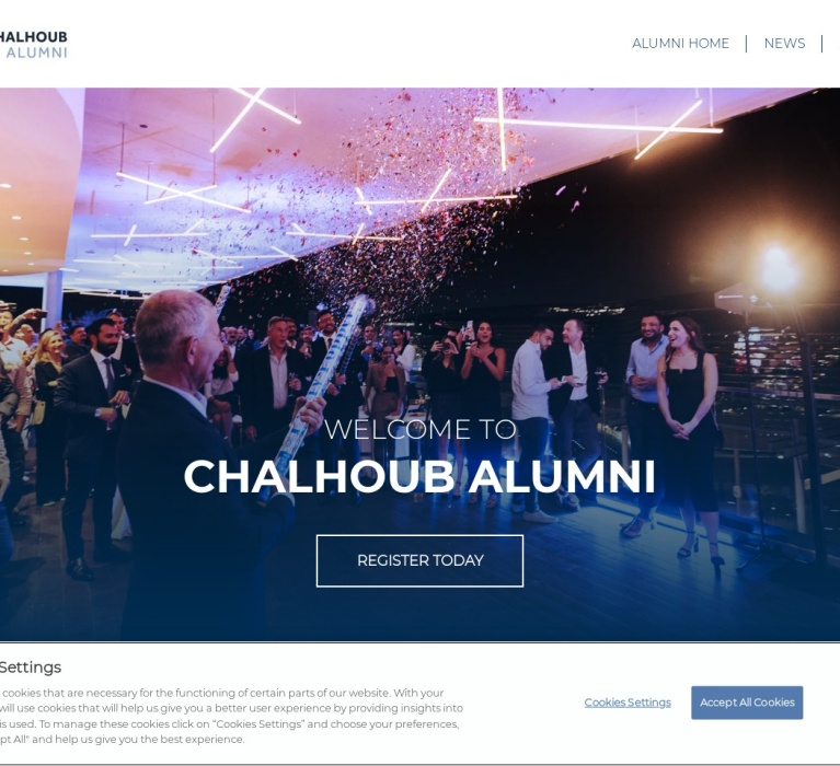 Screenshot of alumni.chalhoubgroup.com