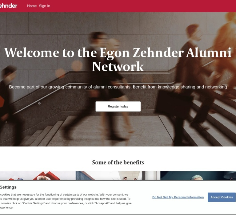 Screenshot of alumni.egonzehnder.com