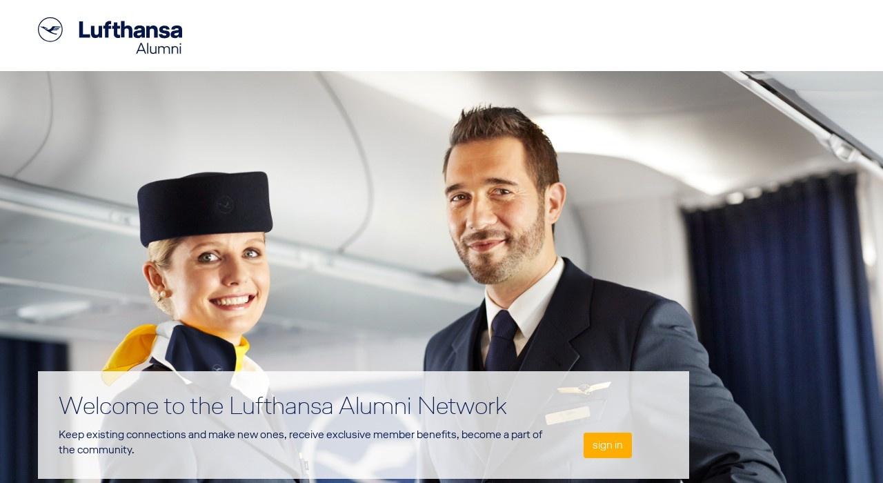 Screenshot of alumni.lufthansa.com