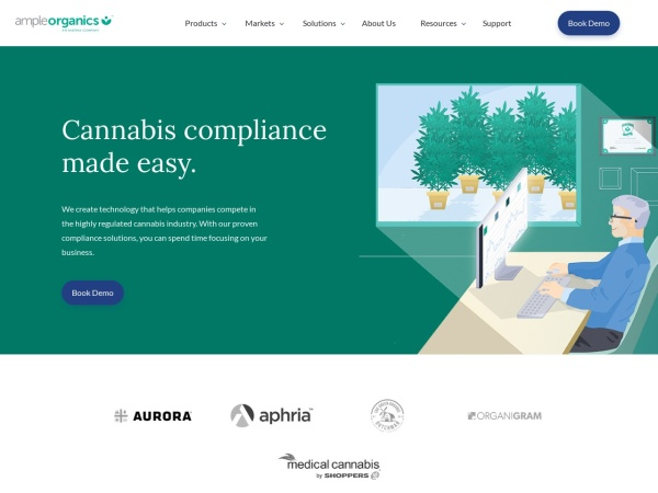 Screenshot of ampleorganics.com