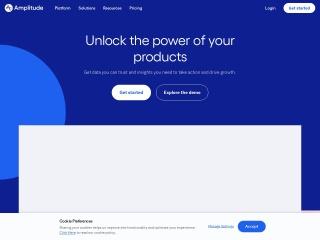 Screenshot of amplitude.com