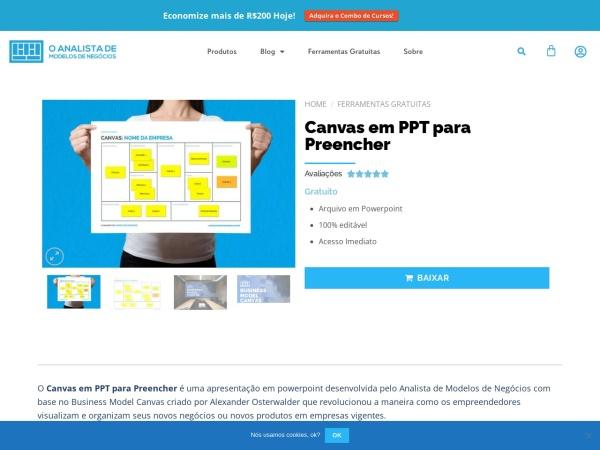 Screenshot of analistamodelosdenegocios.com.br