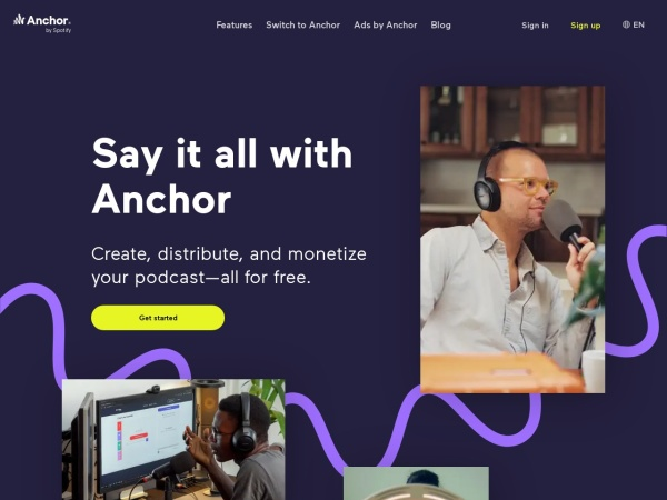 Screenshot von anchor.fm