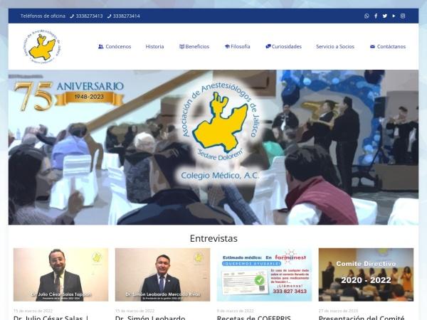 Captura de pantalla de anestesiologosdejalisco.org