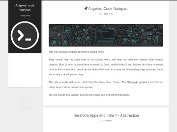 Screenshot de Angeles' code notepad