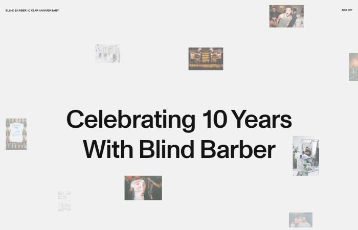 Screenshot of anniversary.blindbarber.com