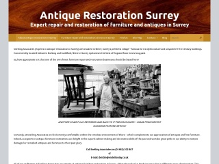 Screenshot of antiquerestorationsurrey.co.uk