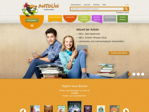 Screenshot of antolin.westermann.de
