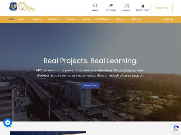 Screenshot of apc.edu.ph