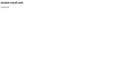 Screenshot of aroma-royal.com