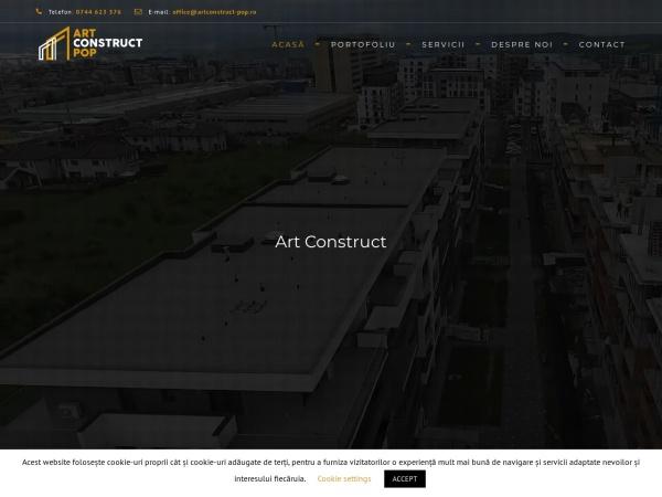 Screenshot of artconstruct-pop.ro