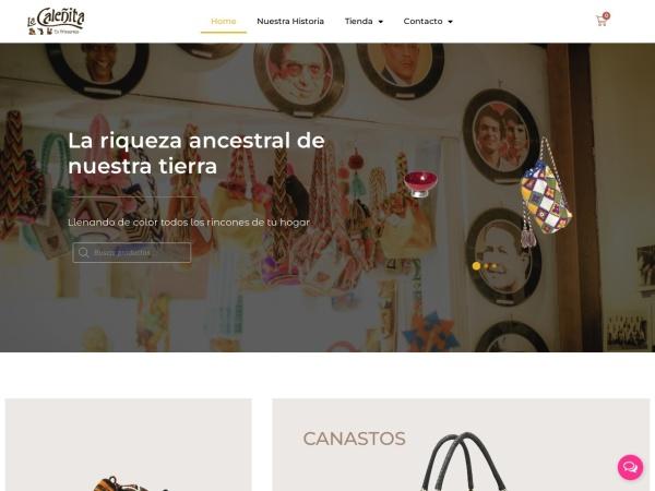 Captura de pantalla de artesanias.lacalenita.com