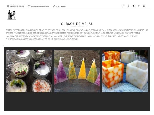 Captura de pantalla de arteslarueca.com