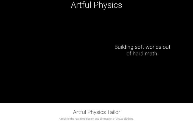 Screenshot of artfulphysics.com