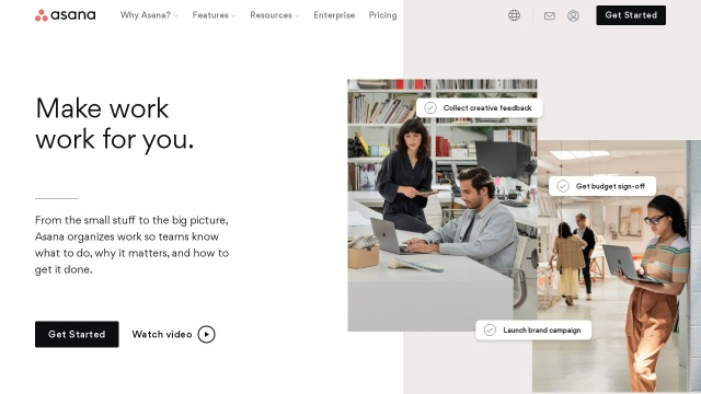 Screenshot of asana.com