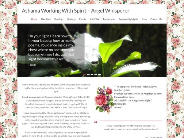 Screenshot of ashamaworkingwithspirit.com