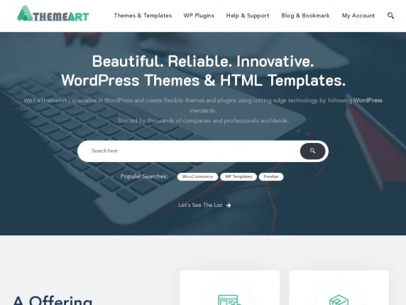 aThemeArt homepage