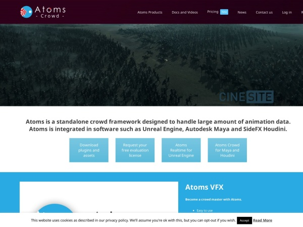Screenshot of atoms.toolchefs.com