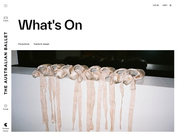 Screenshot of australianballet.com.au